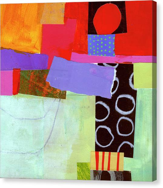 Collage Canvas Print - Wonky Grid #19 by Jane Davies