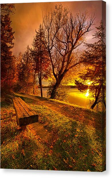 Lake Sunsets Canvas Print - Won't You Please Come Home by Phil Koch