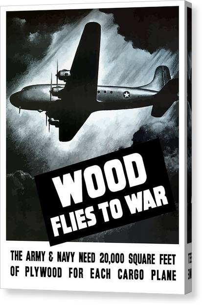 Conservation Canvas Print - Wood Flies To War by War Is Hell Store