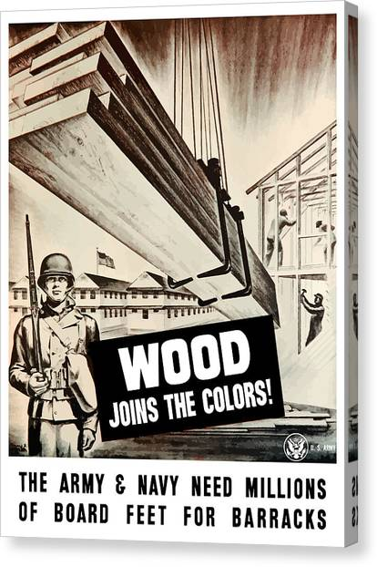 Conservation Canvas Print - Wood Joins The Colors - Ww2 by War Is Hell Store