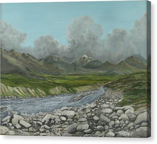 Wood River Storm Canvas Print by Amy Reisland-Speer