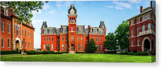West Virginia University Wvu Canvas Print - Woodburn Circle by Aaron Geraud