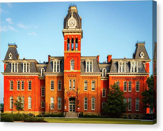 West Virginia University Wvu Canvas Print - Woodburn Hall by Aaron Geraud