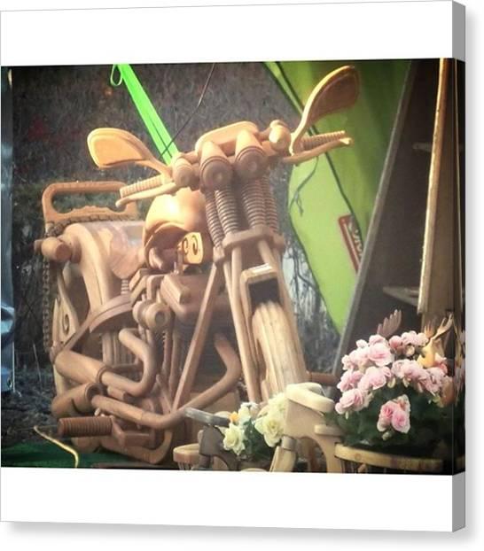 Fairies Canvas Print - #woodcarving #harleydavidson by Kanna Fairy