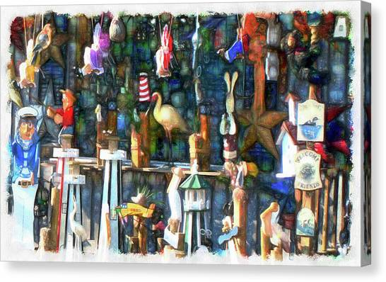 Woodcraft Giftshop In Montour Falls Canvas Print