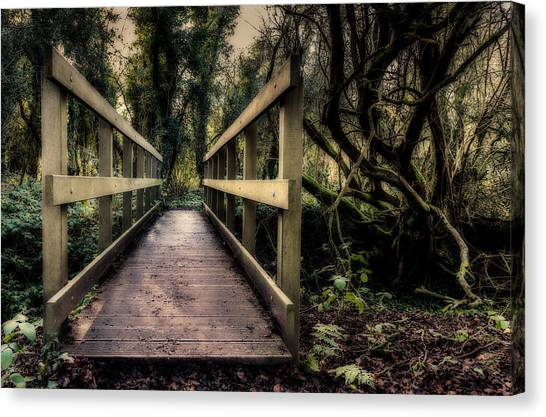 Canvas Print featuring the photograph Wooden Bridge by Nick Bywater
