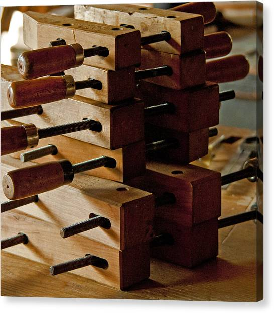 Wooden Clamps Canvas Print