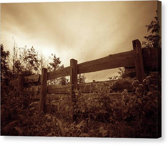 Wooden Fence Canvas Print