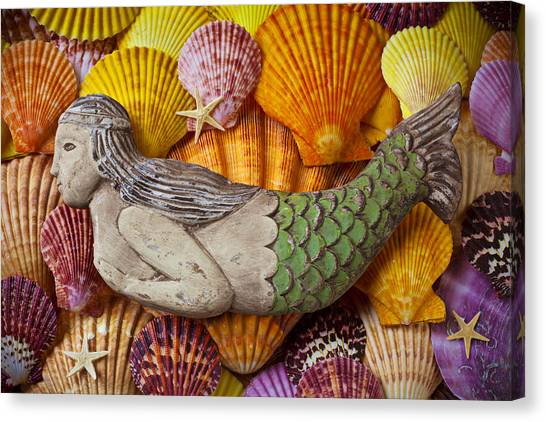 Half Life Canvas Print - Wooden Mermaid by Garry Gay