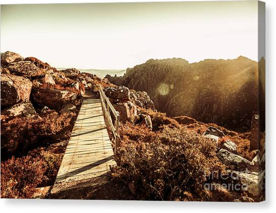 Wooden Canvas Print - Wooden Mountain Paths by Jorgo Photography - Wall Art Gallery