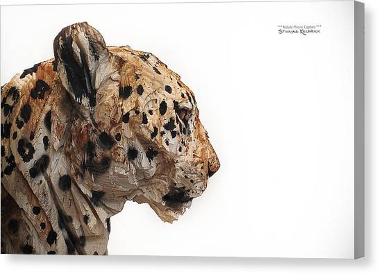 Canvas Print featuring the photograph Wooden Panther by Stwayne Keubrick