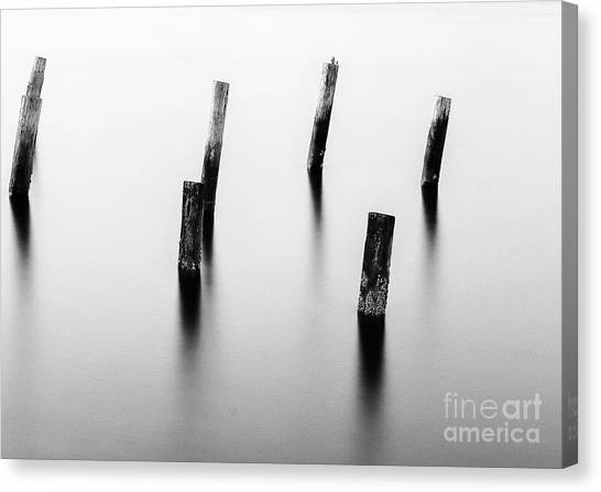 Wooden Post Canvas Print