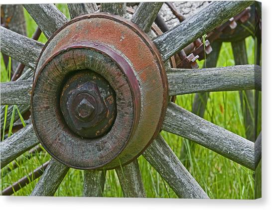 Wooden Spokes Canvas Print