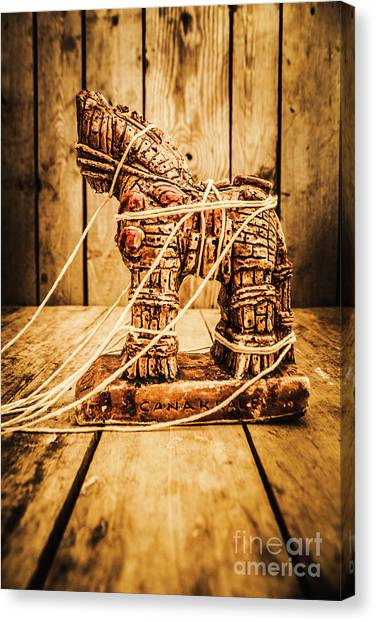Greek Art Canvas Print - Wooden Trojan Horse by Jorgo Photography - Wall Art Gallery