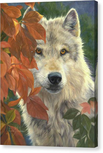 Autumn Leaves Canvas Print - Woodland Prince by Lucie Bilodeau