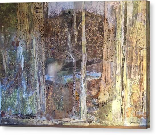 Woodland Canvas Print - Woodland Sanctuary by Joan Sharron