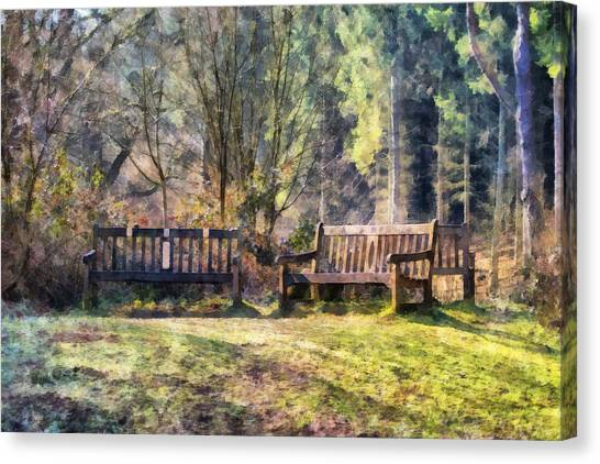 Woodland Canvas Print - Woodland Seating by Scott Carruthers