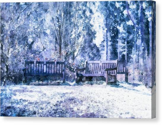 Woodland Canvas Print - Woodland Snow  by Scott Carruthers