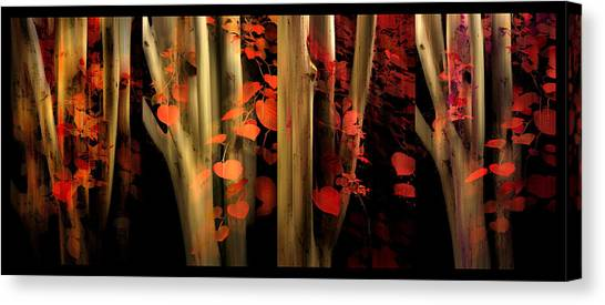 Canvas Print featuring the photograph Woodland Whispers by Jessica Jenney