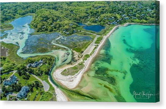 Woodneck Beach At 400 Feet Canvas Print