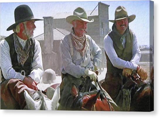 Texas Rangers Canvas Print - Woodrow - Gus - Jake by Donna Kennedy