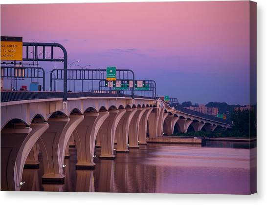 Woodrow Wilson Bridge Canvas Print