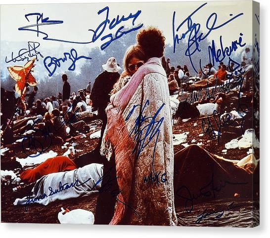 Woodstock Album Cover Signed Canvas Print