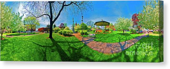 Woodstock Square Historic District 360 Spring Canvas Print