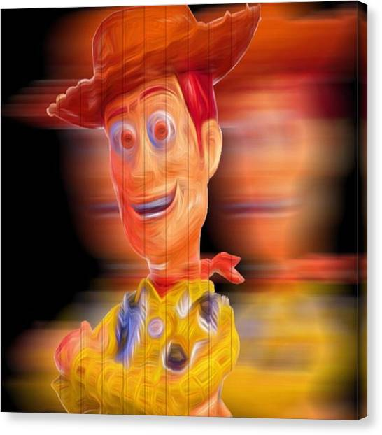 Superbowl Canvas Print - #woody #toy Story #peytonmanning by David Haskett