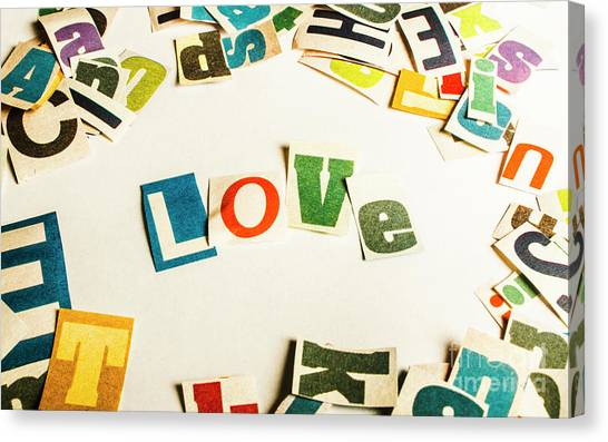 Printers Canvas Print - Word Of Love by Jorgo Photography - Wall Art Gallery