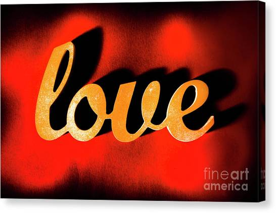 Communications Canvas Print - Words Of Love And Retro Romance by Jorgo Photography - Wall Art Gallery