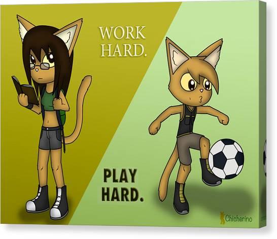 Work Hard. Play Hard. Canvas Print