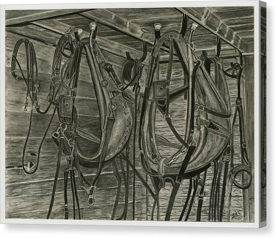 Work Harness Canvas Print by Bryan Baumeister