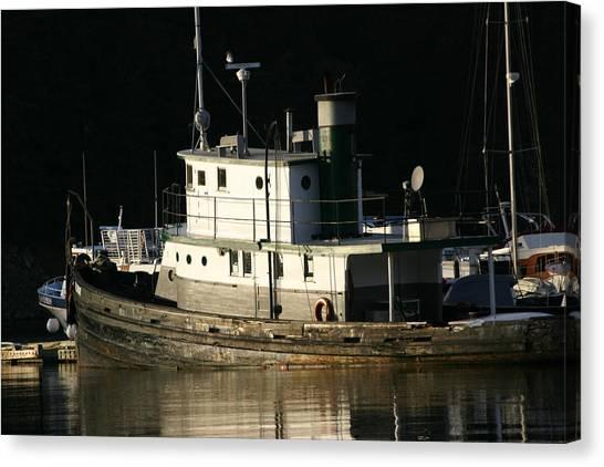 Workboat Canvas Print by Doug Johnson