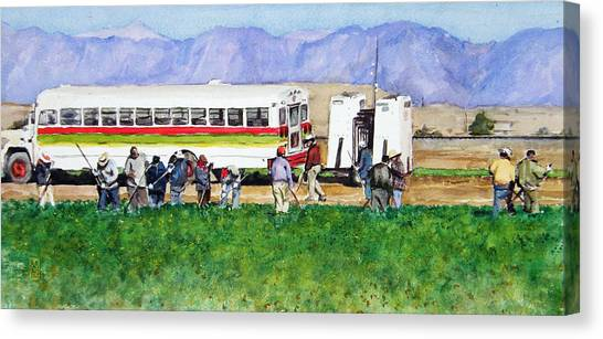 Workers Canvas Print by Debra Jones