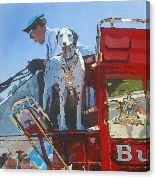 Working Dog Canvas Print by Robert Bissett