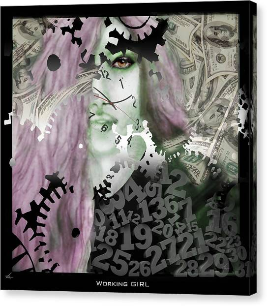 Working Girl Canvas Print