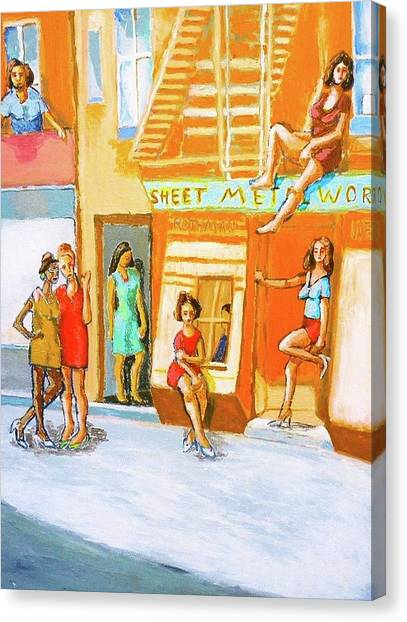 Working Women Canvas Print