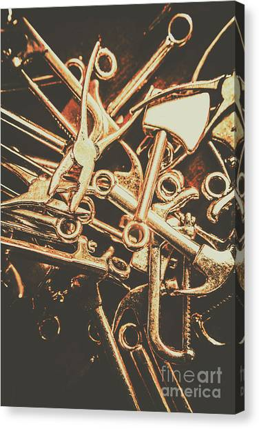 Saws Canvas Print - Workshop Abstract by Jorgo Photography - Wall Art Gallery