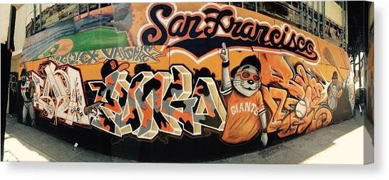 San Francisco Giants Canvas Print - World Champs by Shane Allen