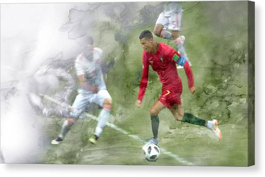British Premier League Canvas Print - World Cup 2018 Ronaldo 5 by Jani Heinonen