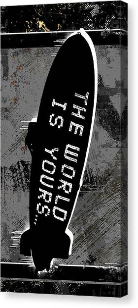 Scarface Canvas Print - World Is Yours by Canvas Cultures