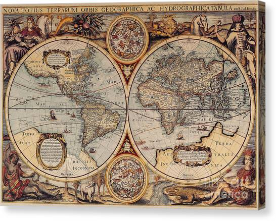 World Map 1636 Canvas Print