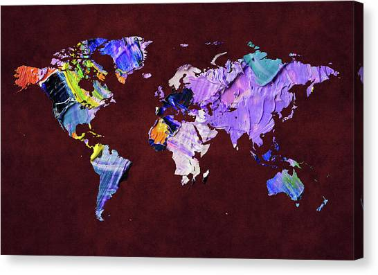 Canvas Print - World Map 22 by World Map