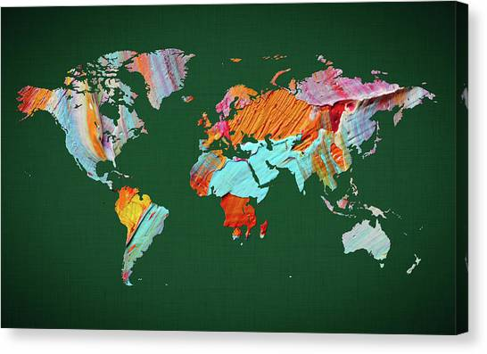 Canvas Print - World Map 23 by World Map