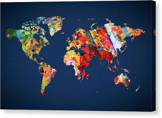 Canvas Print - World Map 24 by World Map