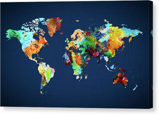 Canvas Print - World Map 25 by World Map