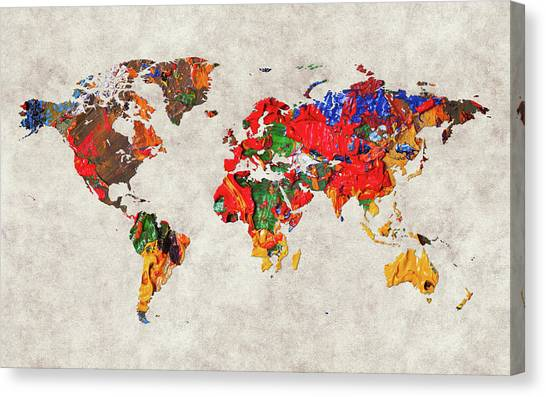 Canvas Print - World Map 26 by World Map