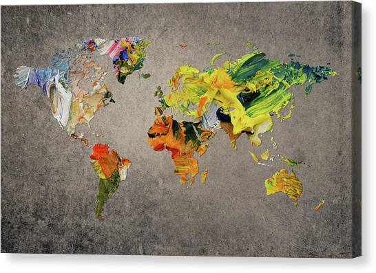 Canvas Print - World Map 27 by World Map