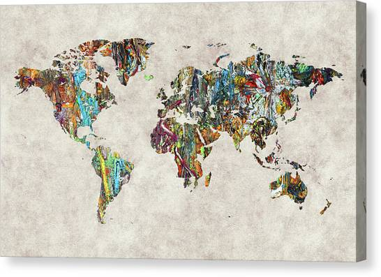Canvas Print - World Map 28 by World Map